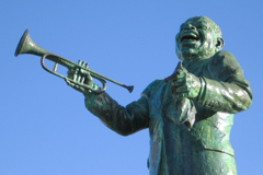 Louis Armstrong statue in New Orleans