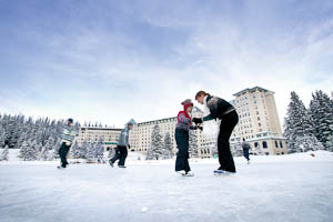 Icescating at Fairmont Chateau Lake Louise