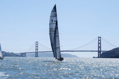 America�s Cup yacht in San Francisco
